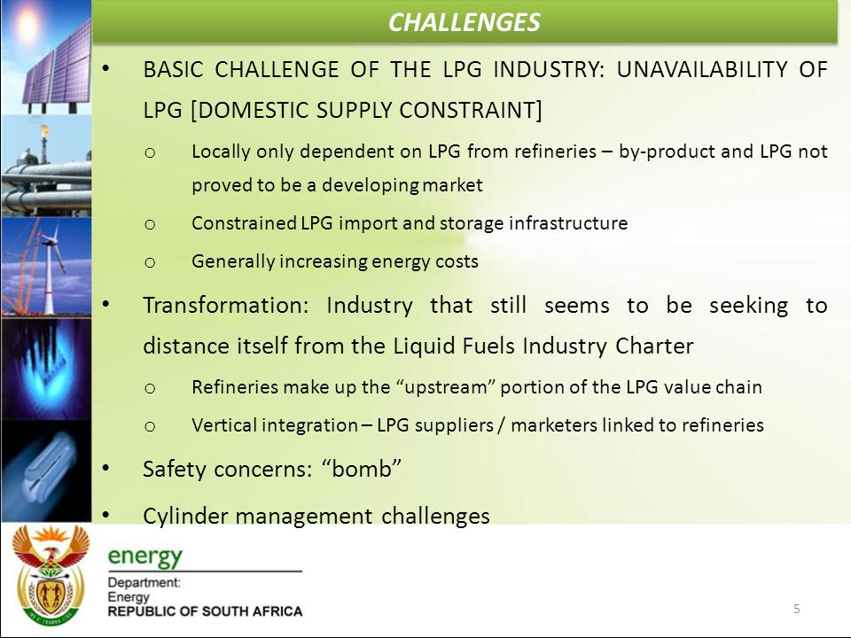 CHALLENGES BASIC CHALLENGE OF THE LPG INDUSTRY: UNAVAILABILITY OF LPG [DOMESTIC SUPPLY CONSTRAINT]